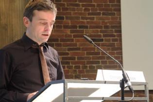 Christoph Hesse bei seinem Vortrag zum 125. Geburtstag von Friedrich Wolf